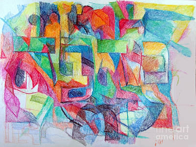 Creativity Drawing - Acceptance Of The Sublime Aspect 1 by David Baruch Wolk