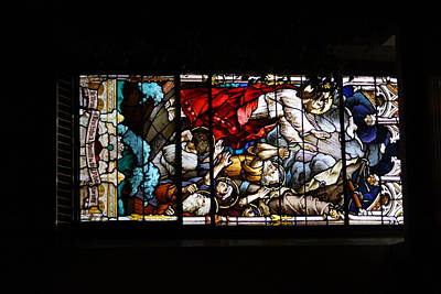 Accession Of Jesus Stainglass Windows Of St. Andrews Cathederal Original by Rosemarie E Seppala