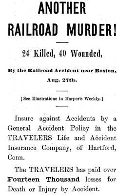 Painting - Accident Insurance, 1871 by Granger