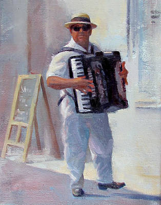 Accordian Painting - Accordian Man by Dianne Panarelli Miller