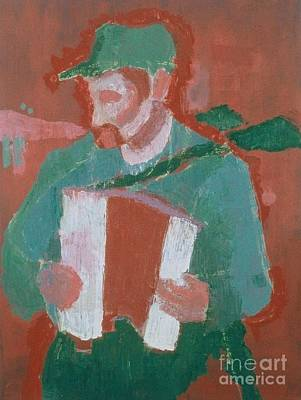Painting - Accordion Player  by Katie McGuire