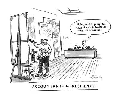 Tell Drawing - Accountant-in-residence:  John by Mike Twohy