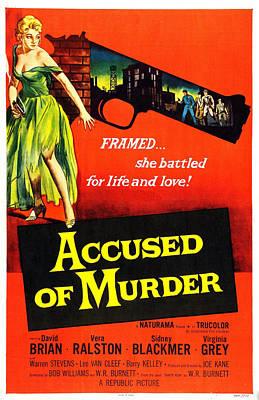 Accused Of Murder, Us Poster, Vera Art Print by Everett