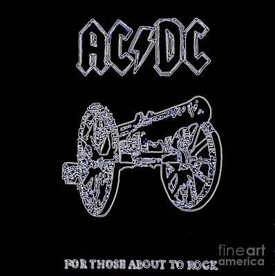 Acdc - Black Original by Richard John Holden RA