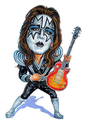 Rock And Roll Paintings - Ace Frehley by Art