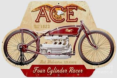 Painting - Ace Motorcycle - 1923 by Roberto Prusso