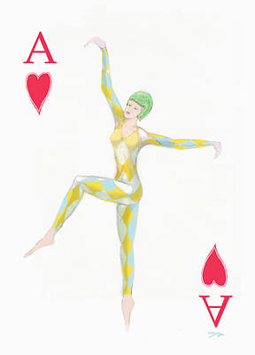 Drawing - Ace Of Hearts by Tom Conway
