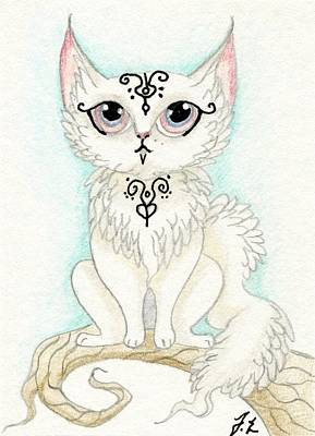 Extinct And Mythical Drawing - Aceo Kittys by Jennifer  Anne Esposito