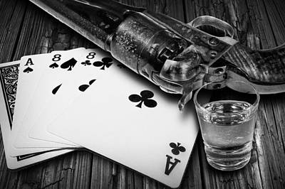 Wild Bill Hickok Photograph - Aces And Eights With Shot Glass And Revolver by Randall Nyhof