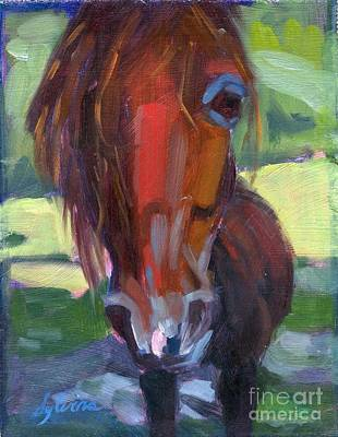 Forelock Painting - Ace's Face by Sylvina Rollins