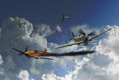 Bf-109 Digital Art - Aces High by J Biggadike