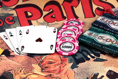 4 Aces Photograph - Aces In Paris by John Rizzuto