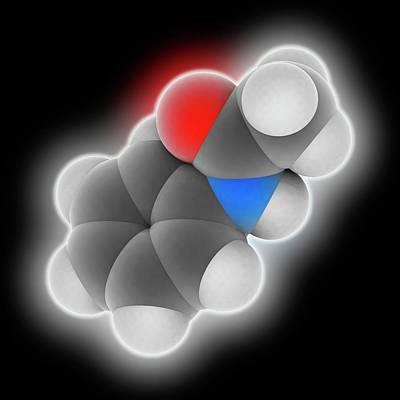 Reliefs Photograph - Acetanilide Molecule by Laguna Design