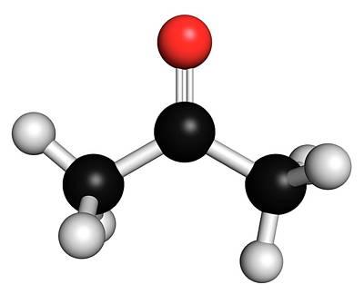 Acetone Solvent Molecule Art Print