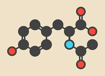 Acetylated Molecule Art Print