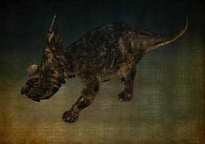 Achelosaurus Art Print by Ramon Martinez