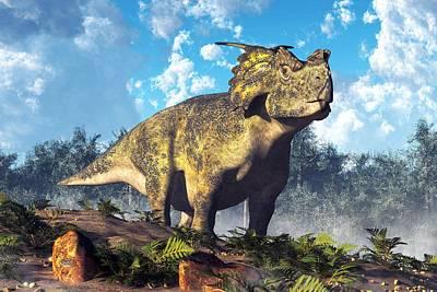 Triassic Digital Art - Achelousaurus by Daniel Eskridge