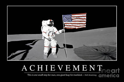 Achievement Inspirational Quote Art Print by Stocktrek Images