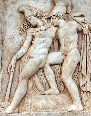 Aphrodisias Photograph - Achilles And Penthesilea by Ayhan Altun