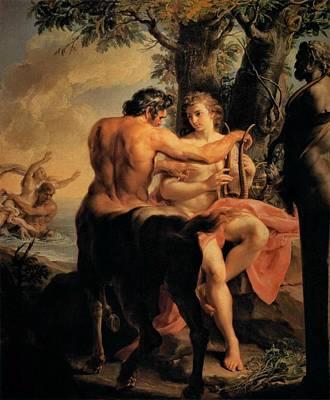 Achilles And The Centaur Chiron Art Print by Pompeo Batoni