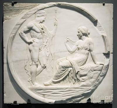 Nude Relief Photograph - Achilles Consulting Pythia, Roman by Sheila Terry