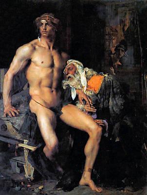 Painting - Achilles Et Priam by Jules Bastien LePage