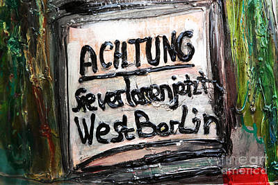 Photograph - Achtung by John Rizzuto