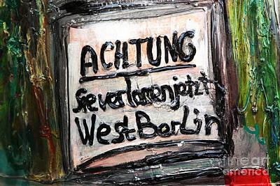 Achtung Art Print by John Rizzuto