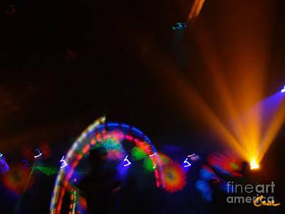 Photograph - Acid Orange Inside The Circle by Feile Case