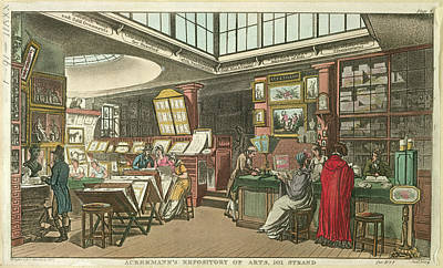 Ackermann's Repository Of Arts Art Print by British Library