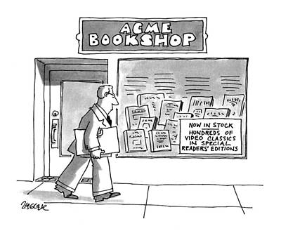 Bookshop Drawing - Acme Bookshop by Jack Ziegler