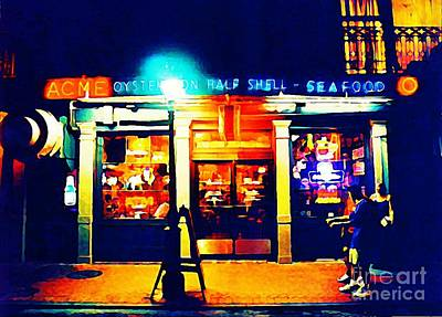 Halifax Art Work Digital Art - Acme Oyster Shop New Orleans by John Malone