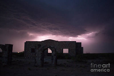 Photograph - Acme School Storm by Shawn Naranjo