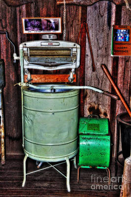 Vintage Washing Machine Photograph - Acme Washing Machine - Early 1900's by Kaye Menner