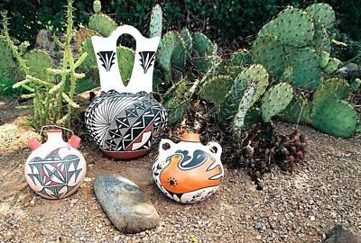 Olla Photograph - Acoma Pottery  by Dan Vallo