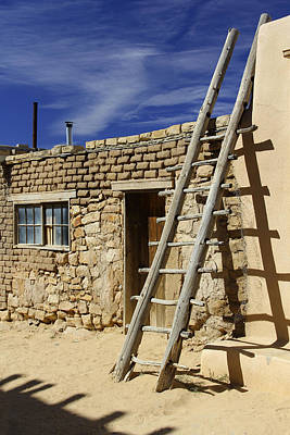 Pueblo Photograph - Acoma Pueblo Adobe Homes 4 by Mike McGlothlen