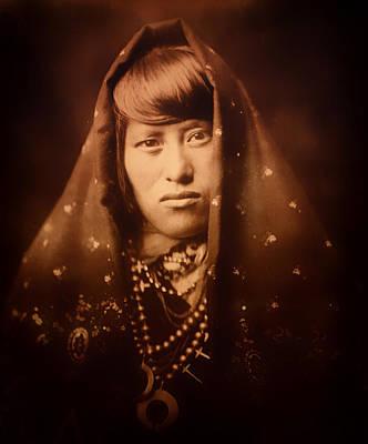 Acoma Photograph - Acoma Woman 1904 by Mountain Dreams