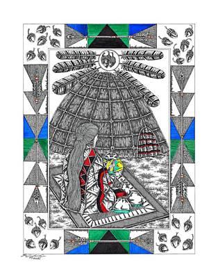 Acorn Medicine Woman Original by Louis McCollum