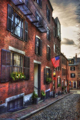 Photograph - Acorn Street - Beacon Hill by Joann Vitali