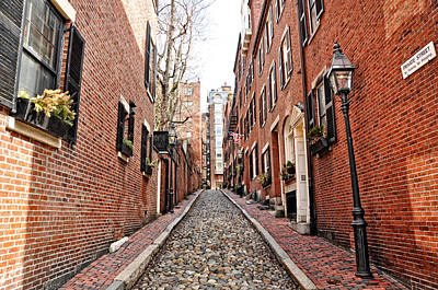 Photograph - Acorn Street Beacon Hill by Joanne Brown