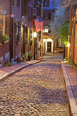 Acorn Street Of Beacon Hill Art Print