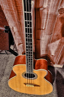 Martin Photograph - Acoustic Bass Guitar by Bill Cannon