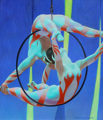 Painting - Acrobats by Kevin Lawrence Leveque