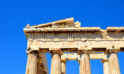 Photograph - Acropolis Detail by Corinne Rhode