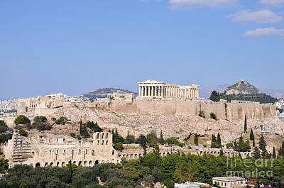 Theatre Photograph - Acropolis Of Athens by George Atsametakis