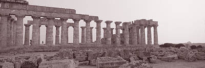 Temple Religion Photograph - Acropolis Selinunte Archeological Park by Panoramic Images