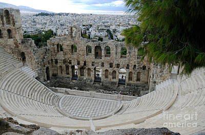 Photograph - Acropolis Theater Athen - Greece by Haleh Mahbod