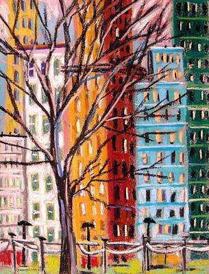 Across From The Park Art Print by John Williams