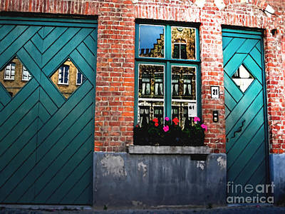 Sunlit Door Photograph - Across The Avenue by Barbara D Richards