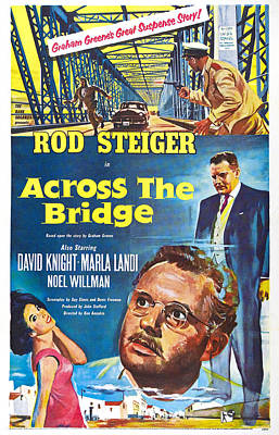 1957 Movies Photograph - Across The Bridge, Us Poster, Rod by Everett